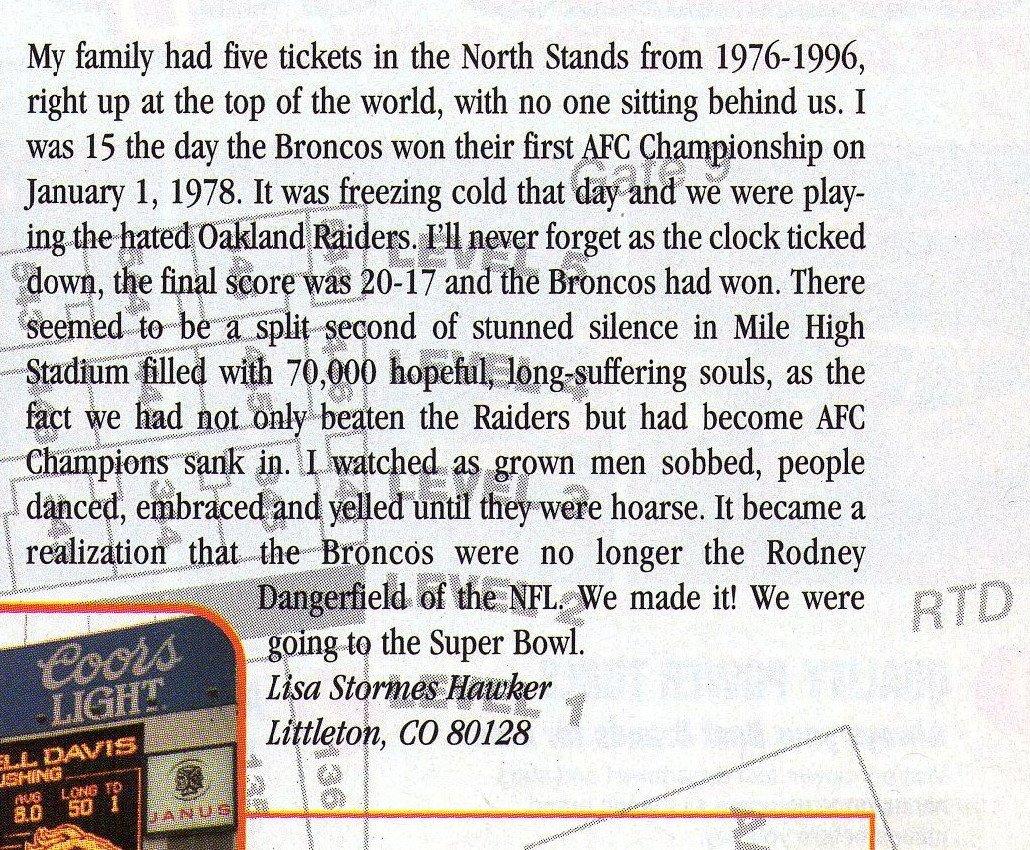 From the Denver Broncos Insider magazine